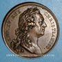 Monnaies Louis XV. Pose de la première pierre de l'église Saint-Germain. Médaille bronze 1766