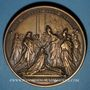 Monnaies Louis XV. Sacre à Reims 1722. Médaille bronze. Refrappe