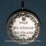 Monnaies Louis XVIII. Prix de l'Ecole de Sorèze (Tarn). 1816. Médaille argent