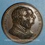 Monnaies Louis XVIII. Rétablissement de la statue d'Henri IV 1817. Médaille bronze 32,7 mm gravée par Gayrard