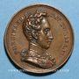 Monnaies Lyon. Louis Philippe 1er. Distribution des drapeaux à la Garde Nationale. 1830. Médaille bronze