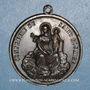 Monnaies Lyon. Notre Dame de Fourvières. Confrérie du Saint Rosaire. 1859. Médaille bronze