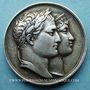 Monnaies Mariage à Paris de Napoléon I avec Marie-Louise d'Autriche. 1810. Médaille en argent. 32 mm