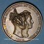 Monnaies Mariage du Prince de Hesse-Darmstadt et de la Princesse Elisabeth de Prusse. 1836. Médaille bronze