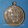 Monnaies Marseille. Conseil Municipal. Souvenir des Fêtes Franco-Russes. 1893. Médaille en laiton