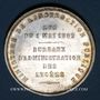 Monnaies Ministère de l'Instruction Publique. Bureaux d'administration des lycées. Médaille argent