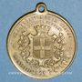 Monnaies Montbéliard. Inauguration de la statue du colonel Denfert-Rochereau. 1879. Médaille laiton