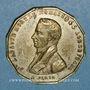 Monnaies Mort du banquier Laffitte. 1844. Médaille cuivre jaune