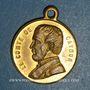 Monnaies Mort du Comte de Cavour. 6.6.1861. Médaille cuivre jaune à bélière. 23,6 mm
