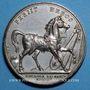 Monnaies Mort du duc d'Enghien. 1804. Médaille en bronze argenté. 40,6 mm. Gravée par E. Gatteaux