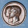 Monnaies Naissance du Prince impérial. 1856. Médaille en bronze. 14 m. Gravée par Caqué