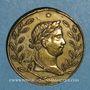 Monnaies Napoléon I. Retour des Cendres. 1840. Médaille cuivre jaune