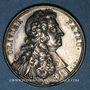 Monnaies Olivier Patru, avocat, doyen de l'Académie Française (1604-1681). Médaille argent gravée par Dassier