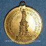 Monnaies Paris. Erection de la statue de la République. 1880. Médaille laiton