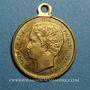 Monnaies Paris. Exposition universelle. 1867. Médaille cuivre jaune à bélière. 23,1 mm