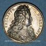 Monnaies Philippe II, duc d'Orléans, régent de France (1674-1723). Médaille argent gravée par Dassier