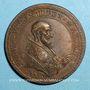 Monnaies Pie V (1566-1572). Création de la Saint Ligue. Médaille de restitution, bronze