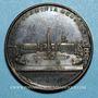 Monnaies Pie VII (1800-1823). Place du Peuple, 1823. Médaille bronze