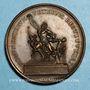 Monnaies Pie VII (1800-1823). Restitution du Groupe de Laocoon par la France, 1818. Médaille bronze