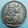 Monnaies Pierre Bayle. Philosophe (1647-1706). Médaille argent. 28,3 mm. Gravée par Jean Dassier