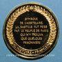 Monnaies Prise de la Bastille. 1789. Médaille vermeil. Frappe moderne !