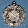 Monnaies Prusse. Guillaume I (1861-1888). 25ième année de règne. Médaille bronze. 33,42 mm. Avec son oeillet