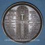 Monnaies Restauration de Notre-Dame de Paris. 1842. Médaille cuivre. 57,7 mm