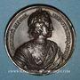 Monnaies Russie. Mort de Pierre le Grand 1725. Médaille bronze