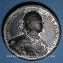 Monnaies Russie. Pierre le Grand (1689-1725). Prise de la Carélie et de Kexholm. Médaille en étain. 46,4 mm
