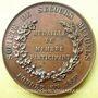 Monnaies Société de Secours mutuels - Maison J. Piat. 1863. Médaille en bronze. 45,8 mm