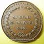Monnaies Souscription aux oeuvres de Voltaire. 1820. médaille en bronze. 36,6 mm. Gravée par Caqué
