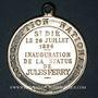 Monnaies St-Dié (Lorraine, Vosges). Inauguration de la statue de Jules Ferry. 1896. Médaille bronze nickelé