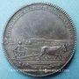 Monnaies Suède. Bernadotte = Charles XIV Jean (1818-44). Prix de l'Académie d'agriculture (1810-18). Médaille