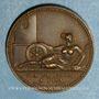Monnaies Toscane. Elise Bonaparte, grande-duchesse (1809-1814). Médaille bronze. 23 mm.