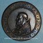 Monnaies Urbain VII (1590).  Menorah,1590. Médaille de restitution, bronze