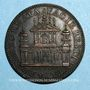 Monnaies Urbain VIII (1623-1644). Restauration de la façade de Sainte Anastasie. Médaille de restitution, bro