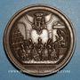 Monnaies Vatican. Concile oecuménique de 1869. Médaille cuivre
