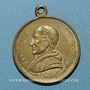 Monnaies Vatican. Léon XIII (1878-1903). Commémoration du jubilé pontifical... 1883. Médaille laiton argenté