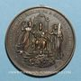 Monnaies Vatican. Léon XIII (1878-1903). Jubilé sacerdotal. 1887 (1888). Médaille cuivre