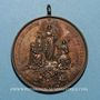 Monnaies Vatican. Léon XIII (1878-1903). La Vierge au-dessus du monde catholique. 1887. Médaille bronze