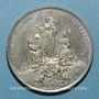 Monnaies Vatican. Léon XIII (1878-1903). La Vierge au-dessus du monde catholique. 1887. Médaille étain