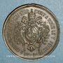 Monnaies Vatican. Pie IX (1846-1878). Décès du pape, 1878. Médaille bronze