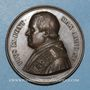 Monnaies Vatican. Pie IX (1846-1878). Doctrine fondamentale de l'Eglise 1860, an XV. Médaille en cuivre