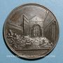 Monnaies Vatican. Pie IX (1846-1878). Incendie de la basilique St Paul en 1823. Médaille cuivre
