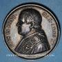Monnaies Vatican. Pie IX (1846-1878). Sécession de l'Emilie 1860. Médaille en argent. 43,4 mm.