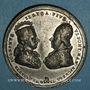 Monnaies Vatican. Pie VI (1775-1799). Visite à Joseph de Lorraine, empereur (1780-1790). Méd. étain. 42,6 mm.