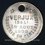 Monnaies Verjux (Bourgogne, Saône et Loire). Augustin Farion et Anne Gaudillot. Médaille zinc nickelé. 1905