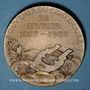Monnaies Victor HUGO (1802-1885) - Centenaire de sa naissance. 1902. Médaille bronze