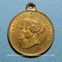 Monnaies Visite de la Reine Victoria et du Prince Albert. 1855. Médaille cuivre jaune à bélière