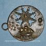 Monnaies Voilier et montgolfière (fin 18e - début 19e). Médaille bronze uniface repoussé et ajouré